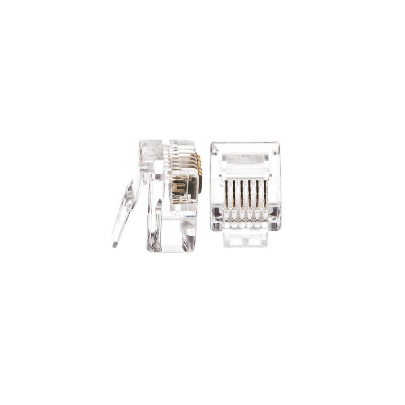 netrack telephone plug rj12  6p6c  100 pcs